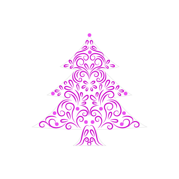 Hot Pink Christmas Tree Clip Art Christmas Trees     More Info