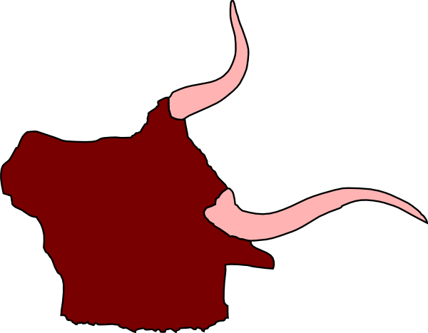 Ox Head With Horns Clip Art At Clker Com   Vector Clip Art Online