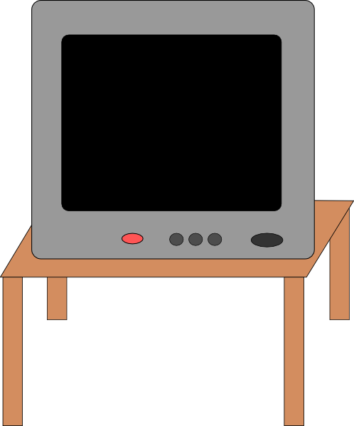 Television On A Table Clip Art At Clker Com   Vector Clip Art Online