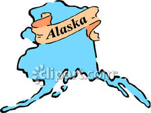 The State Of Alaska   Royalty Free Clipart Picture