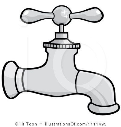 Water Faucet Clipart Black And White   Clipart Panda   Free Clipart