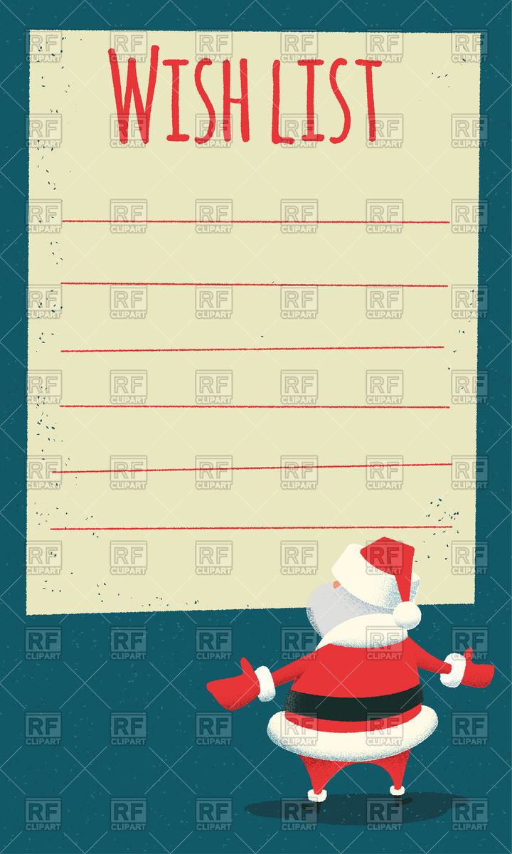 Wish List For Santa Claus 96115 Download Royalty Free Vector Clipart