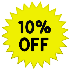 10 Percent Off Solid Yellow    Office Sale Promo Percent Off Yellow 10