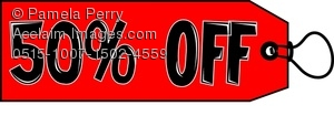 Clip Art Image Of A 10  Off Price Tag   Acclaim Stock Photography