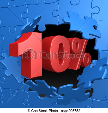 Clip Art Of 10 Off   Computer Generated Image   10 Off Csp4905752