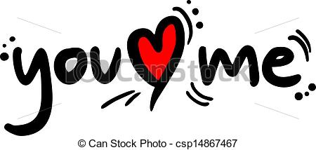 Clip Art Vector Of You Love Me   Design Of You Love Me Message