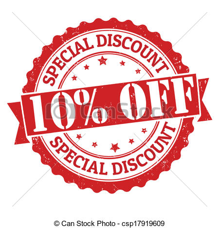 Clipart Of Special Discount 10 Off Stamp   Special Discount 10 Off