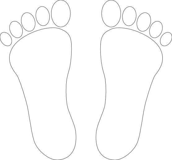 Feet Outline Clip Art   Clipart Panda   Free Clipart Images