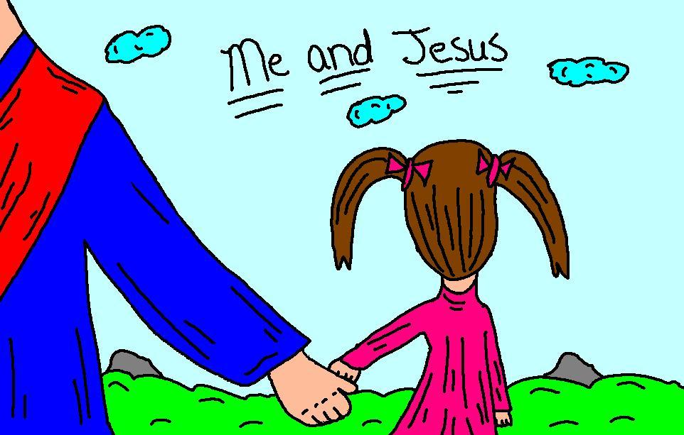 Jesus With Little Child Clipart