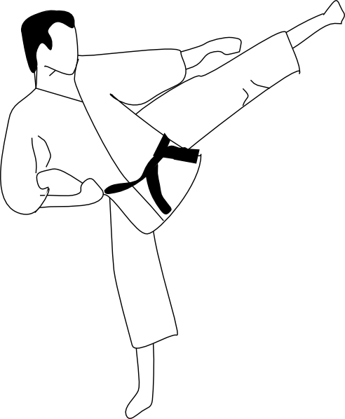 Karate Kick Clip Art At Clker Com   Vector Clip Art Online Royalty