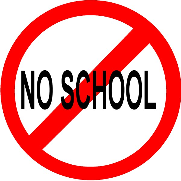 Image result for no school sign clip art