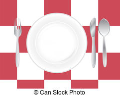 Table Setting Illustrations And Clipart