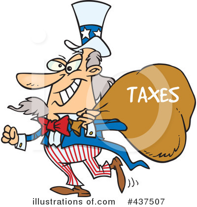 Taxes Clipart  437507   Illustration By Ron Leishman