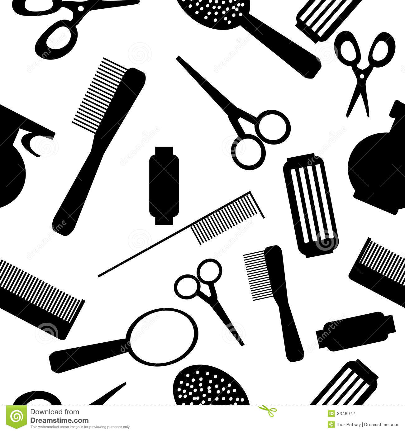 Vector Seamless Beauty Salon Background Pattern Mr No Pr No 4 3367 16