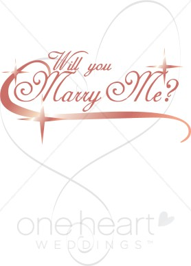 Will You Marry Me Wordart