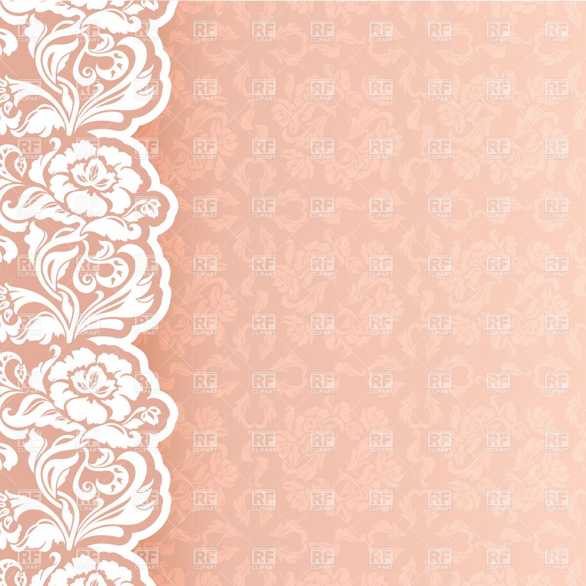 Background With Delicate Lace   Newborn Or Wedding Invitation Template