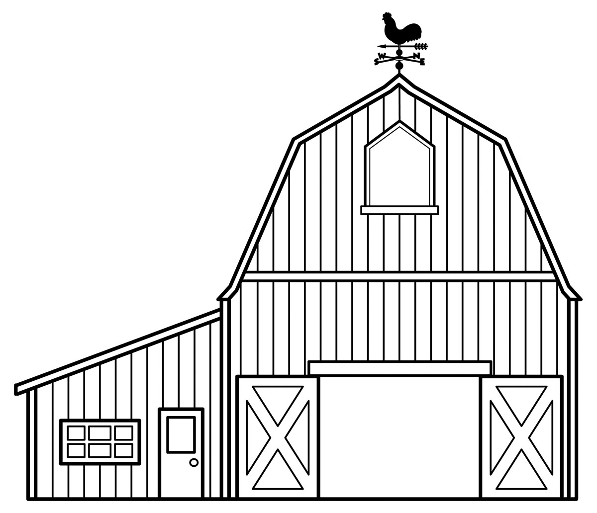 Barn Clipart Black And White   Clipart Panda   Free Clipart Images