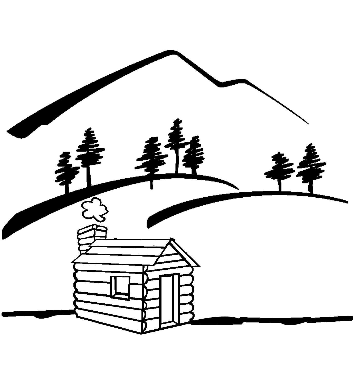 Cabin Clipart Black And White Cabin 20clip 20art 9trrxgnec Jpeg