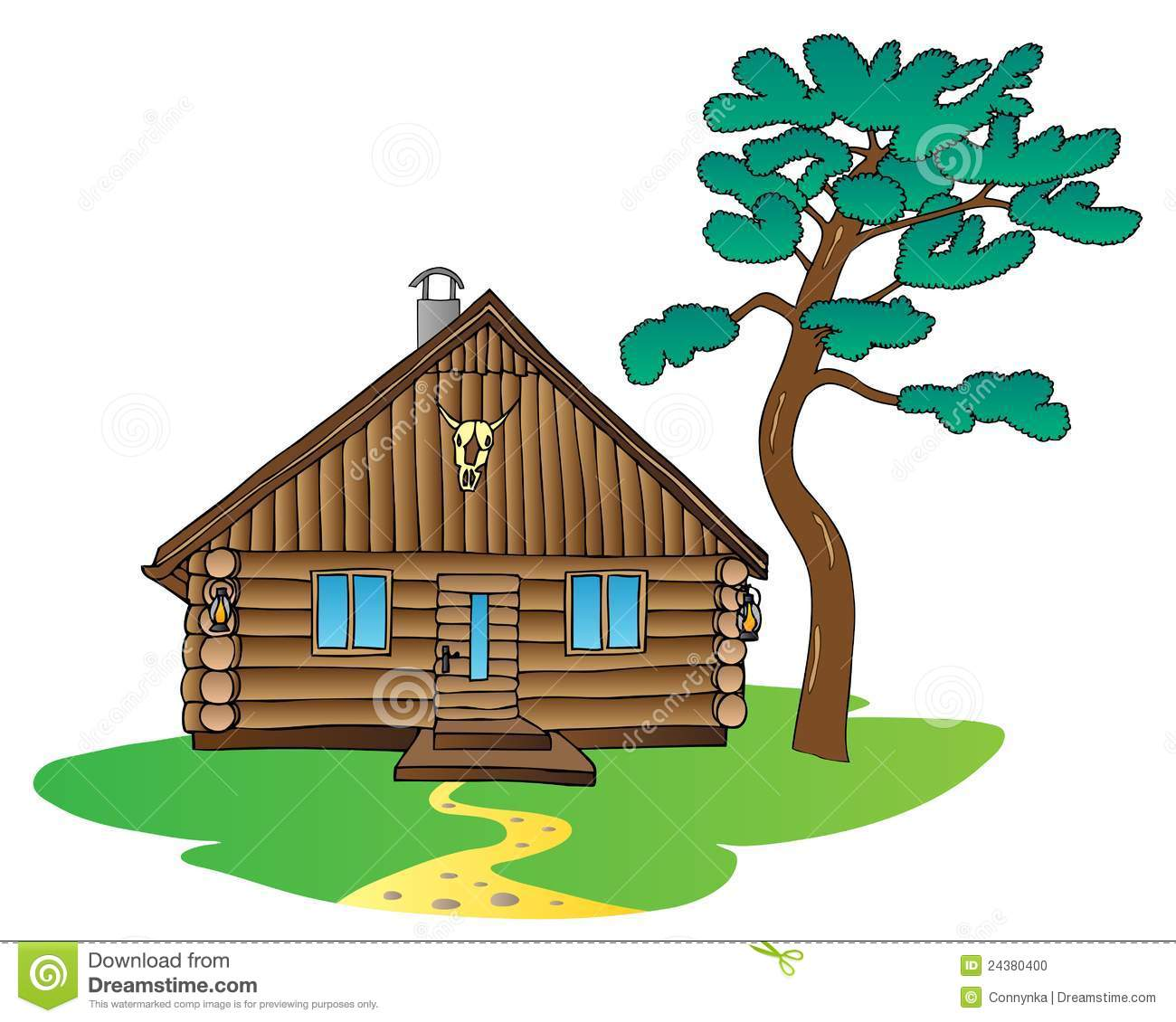 Image Gallery mountain cabin clip art