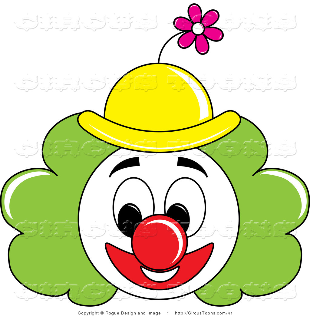 Clown Face Clipart - Clipart Kid