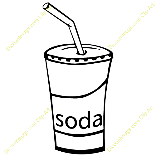 Clipart 12379 Soda Cup   Soda Cup Mugs T Shirts Picture Mouse Pads