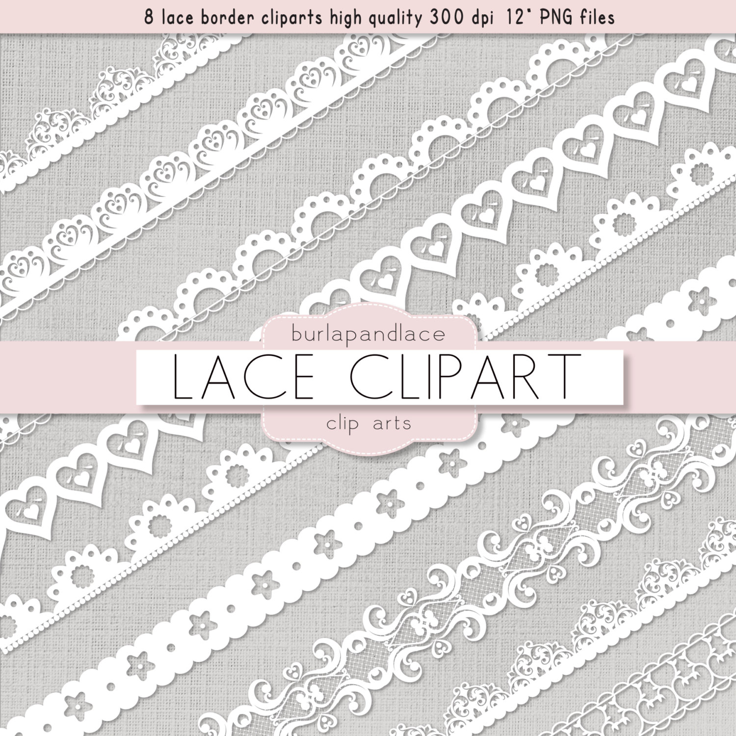 Clipart White Lace Borders Clip Art Lace Lace By 1burlapandlace