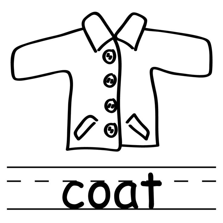 Coat Clip Art For Pete The Cat   Preschool Book Crafts   Pinterest