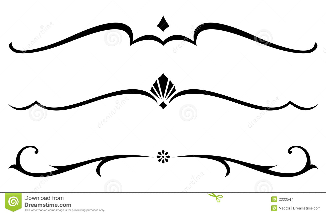 Line And Shape Art : Fancy lines clipart suggest