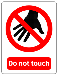 Do Not Touch Sign Clip Art At Clker Com   Vector Clip Art Online