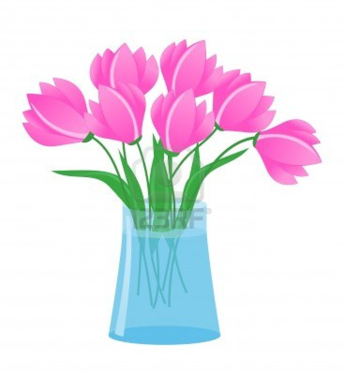 Flowers In A Vase Clipart Flowers In Vase Stock Vector