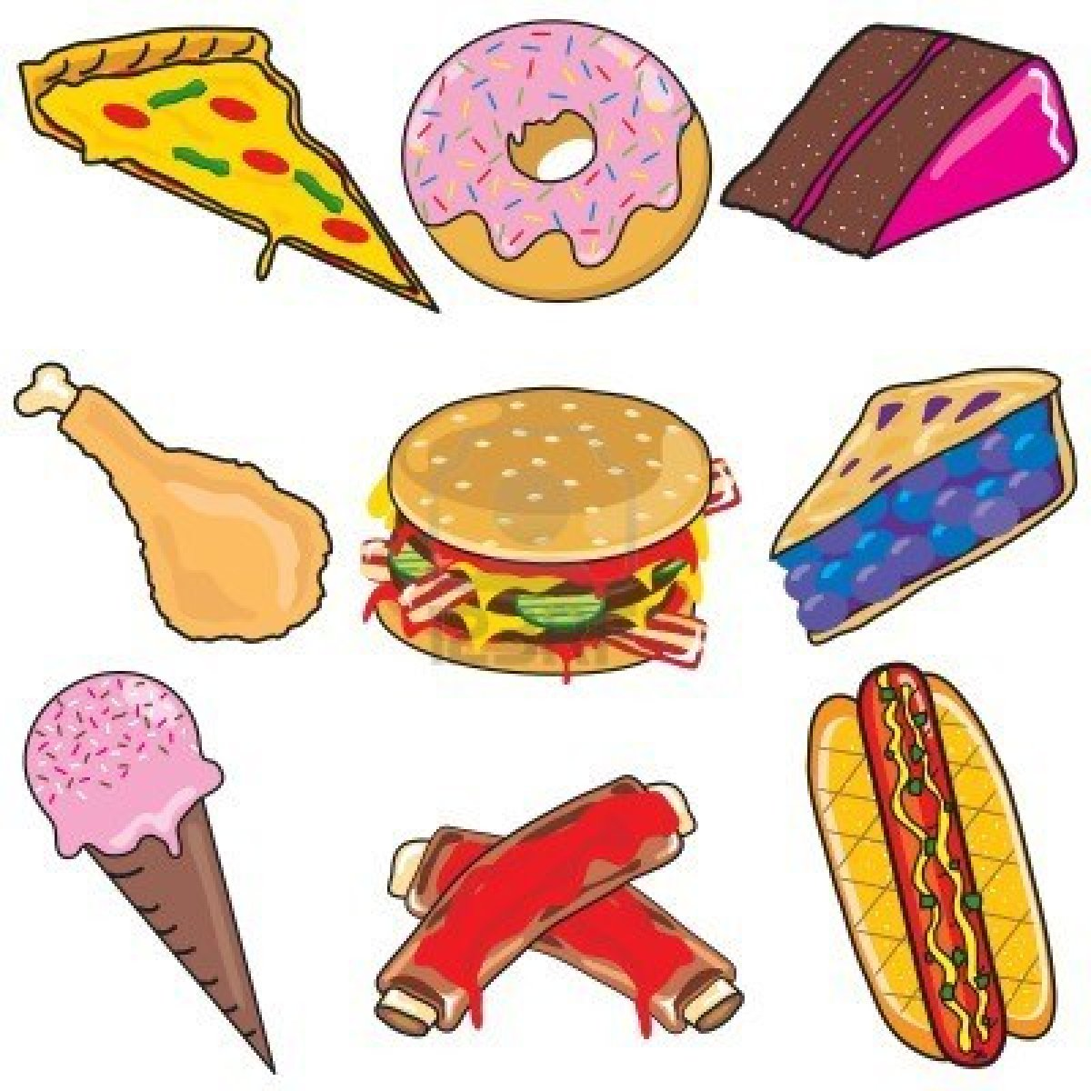 Bad Food Clipart - Clipart Kid