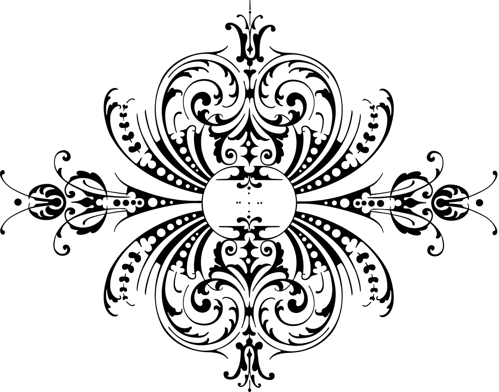Free Vintage Clip Art Images  Free Calligraphic Ornaments