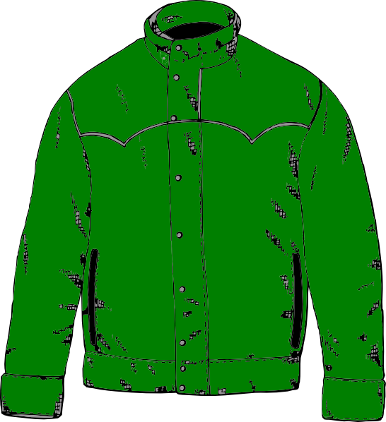 Green Jacket Clip Art