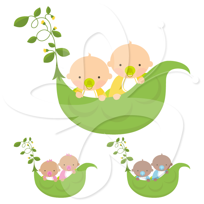 Home   All Clip Art   Twins Clipart Set   Sweet Pea Babies
