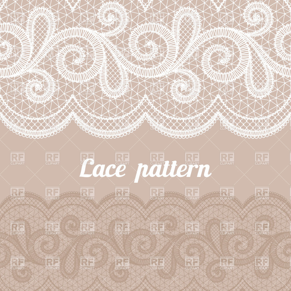 Lace Horizontal Seamless Pattern Download Royalty Free Vector Clipart