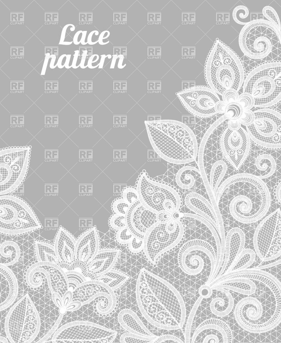 Made Of White Lace Flowers Download Royalty Free Vector Clipart Eps