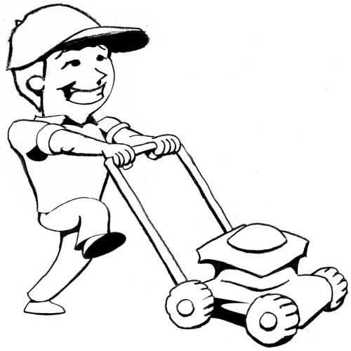 Mowing Lawn Clipart - Clipart Kid