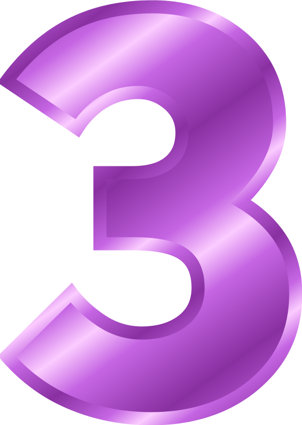 Number 3 Vector Clip Art