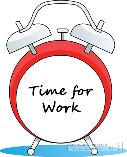 Work Time Clipart - Clipart Kid