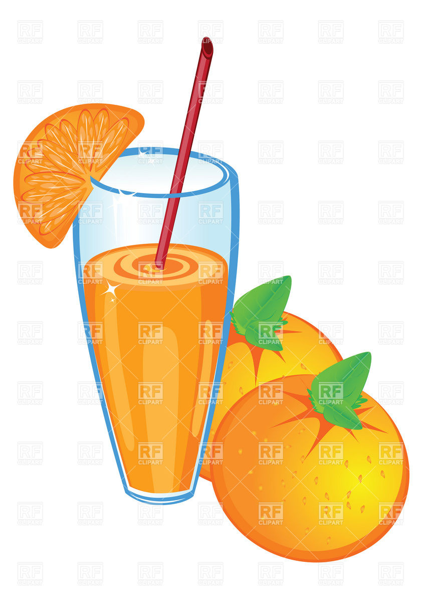 Of Orange Juice And Fruit Download Royalty Free Vector Clipart  Eps