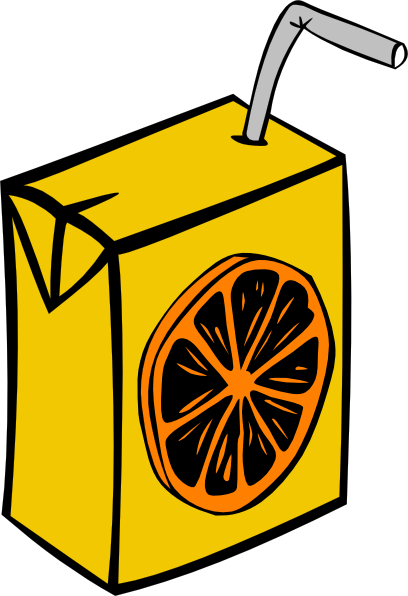Orange Juice Box Clip Art At Clker Com   Vector Clip Art Online