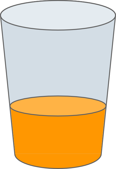 Orange Juice In Glass Clip Art At Clker Com   Vector Clip Art Online