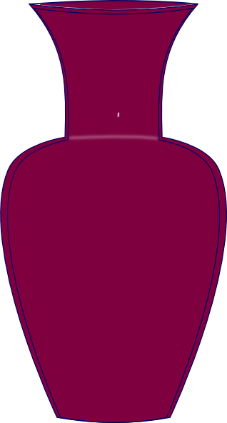 Purple Vase Clip Art At Clker Com   Vector Clip Art Online Royalty