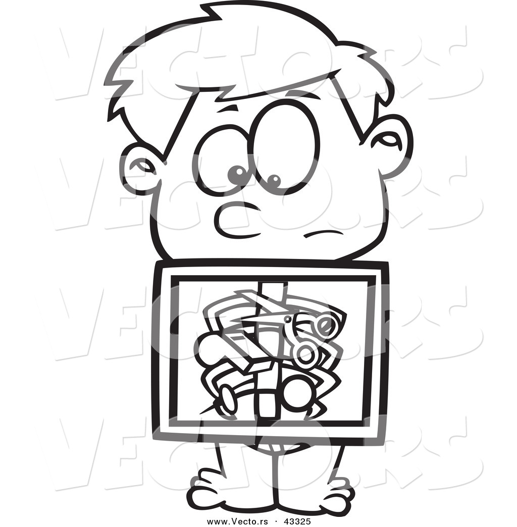 X Ray Line Drawing : Clip art ray machine clipart suggest