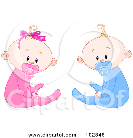 Royalty Free  Rf  Clipart Of Twins Illustrations Vector Graphics  1