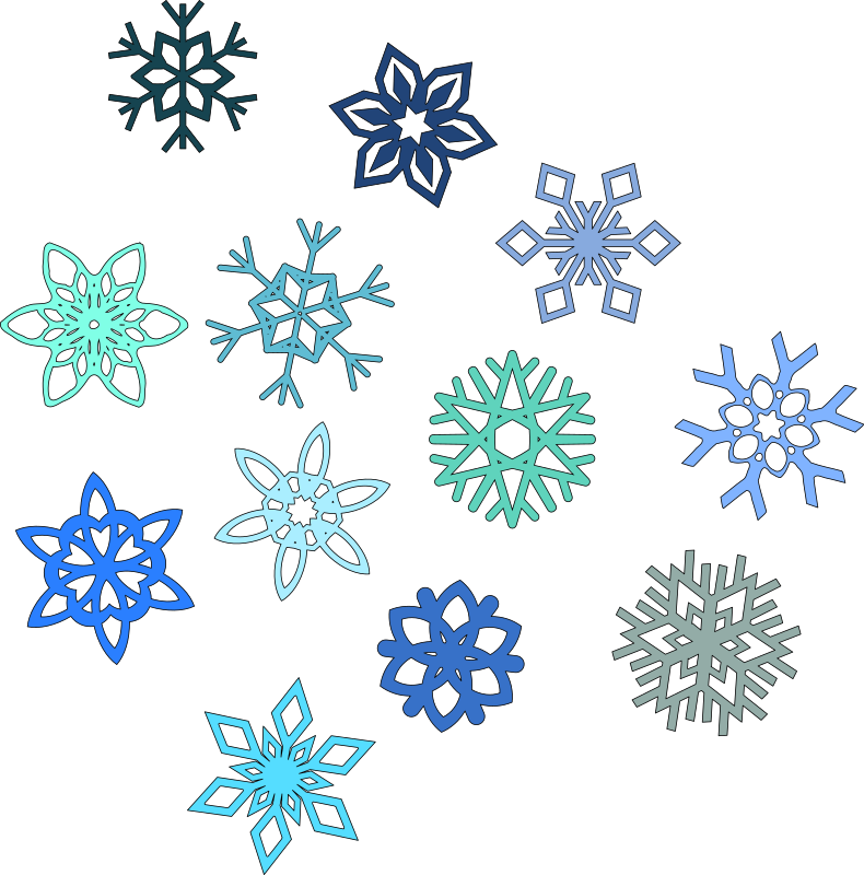 Snowflakes By Spacefem 6 Pointed Snowflakes