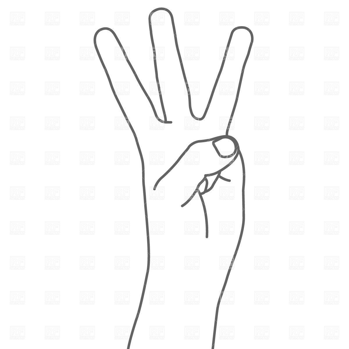 3 Fingers Clipart - Clipart Kid