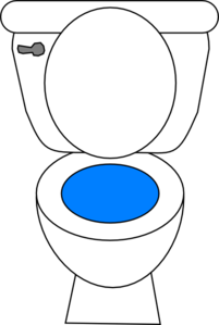 High Efficiency Toilet Clip Art