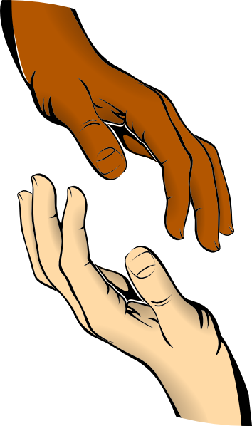 Touching Hands Clip Art At Clker Com   Vector Clip Art Online Royalty