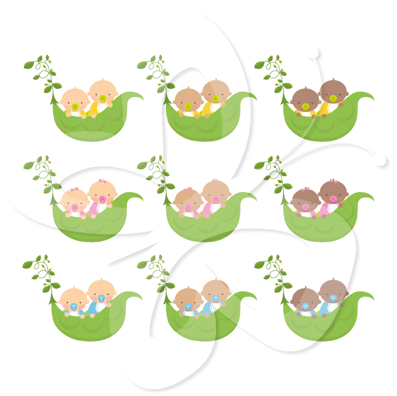 Twin Baby Clipart - Clipart Kid